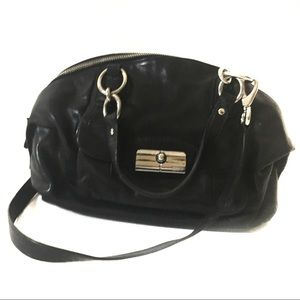 Coach Kristen Domed Black Leather Silver 19296 EUC